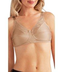 women's amoena nancy lace soft cup bra, size 36c - beige