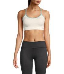 splendid women's strappy sports bra - ivory combo - size xl
