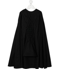 infantium victoria cape-style quilted dress - black