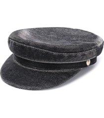 manokhi greek fisherman metallic hat - silver