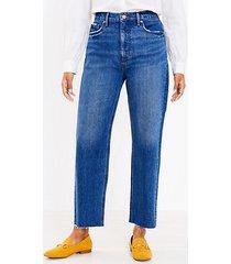 loft curvy 90s straight jeans in authentic dark indigo wash