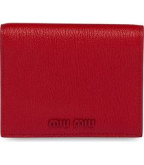 miu miu madras wallet - red