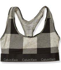 brassieres unlined bralette modern cotton gris calvin klein