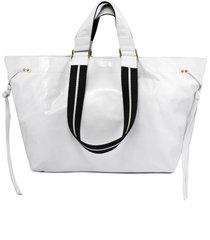 isabel marant white leather big tote wardy bag