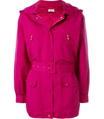 chanel pre-owned silk sports line padded coat - pink