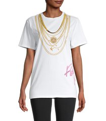 chain necklace-print t-shirt