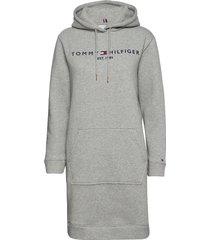 th ess hilfiger hoodie dress ls dresses everyday dresses grå tommy hilfiger