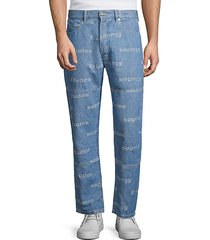 conner jacquard logo jeans