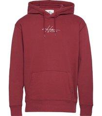hco. guys sweatshirts hoodie röd hollister