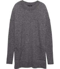 sweater aire oversized tunic gris banana republic