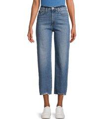 joe's jeans women's high-rise wide leg cropped jeans - norwich - size 24 (0)