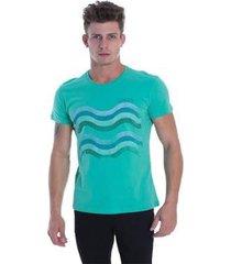 t-shirt osmoze ethos 011 12676 5 verde - verde - pp - masculino
