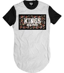 camiseta longline kings new york floral masculina