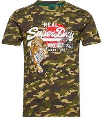 vl rising sun tee t-shirts short-sleeved grön superdry