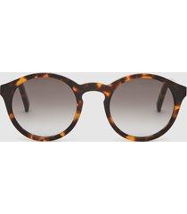 reiss barstow - monokel eyewear keyhole sunglasses in havana, mens
