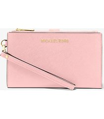 mk portafoglio da polso jetset grande per smartphone - rosa chiaro (rosa) - michael kors