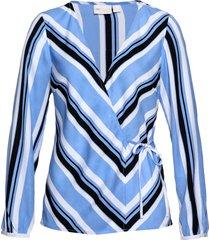 camicetta incrociata fantasia (blu) - bpc selection