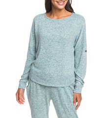 women's roxy holiday everyday top, size large - blue