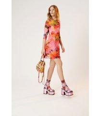 short dress 3/4 sleeve - red - xl