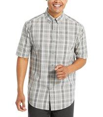 wolverine men's mortar short sleeve shirt concrete plaid, size xxl