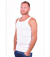alan red singlet oakland white (two pack)