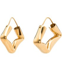 all blues straw polished gold vermeil earrings
