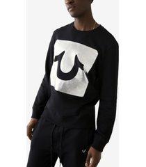 men's box foil horseshoe logo pullover sweatshirt