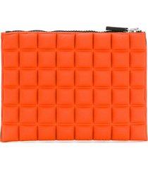 no ka' oi medium grid textured pouch - orange