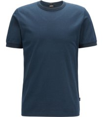 boss men's tessler 120 slim-fit mouline cotton t-shirt