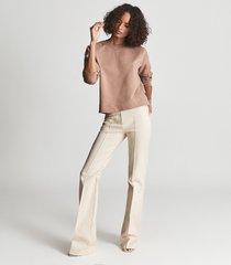 reiss brooke - relaxed loungewear sweatshirt in pink, womens, size xl