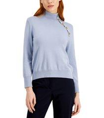 marella ricola button-trim high-neck sweater