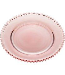sousplat cristal pearl roxo 32cm