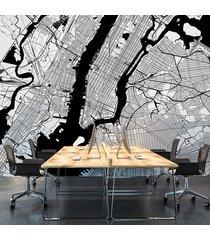 nowy jork - fototapeta na wymiar - mapy miast