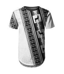 camiseta masculina longline étnica tribal md03