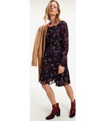 tommy hilfiger women's floral chiffon skater dress wildfloral print / lakeside - 12
