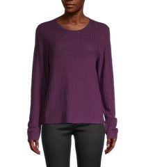 eileen fisher women's rib-knit sweater - raisin - size s