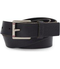 tommy hilfiger men's black leather belt