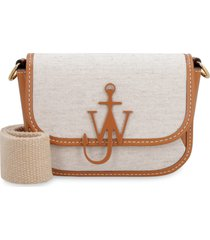 j.w. anderson nano anchor canvas and leather crossbody bag