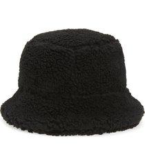 women's ganni teddy fleece bucket hat -