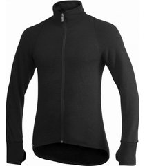 woolpower vest unisex full zip jacket 400 black-l