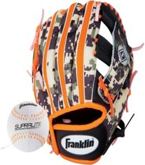"franklin sports 9.5"" rtp teeball performance glove and ball combo - right handed thrower"