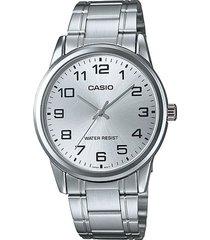 reloj casio mtp_v001d_7b plateado acero inoxidable