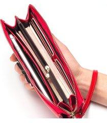 gran capacidad cartera para mujer/ bolso de embrague de-rojo