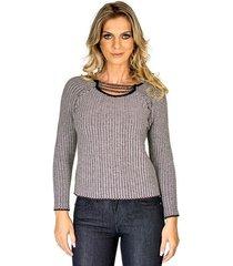 tricot tweed decote corrente alphorria a.cult m