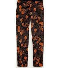 scotch & soda lowry – slim fit pantalon met jacquard