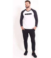 camiseta at home manga larga - hombre