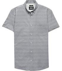 joe joseph abboud gray stripe sport shirt