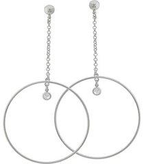 brinco dona diva semi jóias maxi círculo feminino