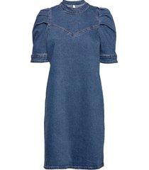 dhvitus denim dress korte jurk blauw denim hunter