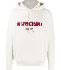 buscemi sequin logo hoodie - neutrals